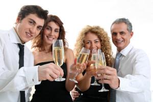 DJ soirée entreprise - champagne célébration