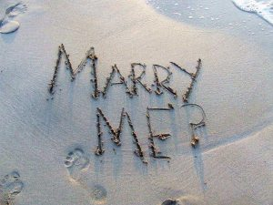 Demande en mariage originale